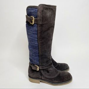 Missoni Suede Side Knit Tall Boots Size 5